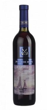 Вино столовое красное полусладкое Изабелла Русское Море, 10-12 %, 750 мл., стекло