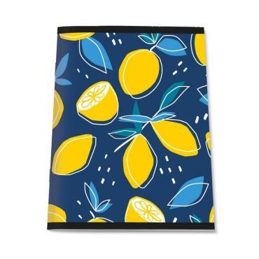 Тетрадь общая А4,96л,кл,скоб,блок-офсет-2 Attache Лимоны синие