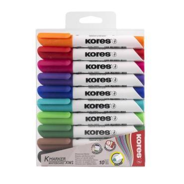 Набор маркеров для досок KORES 3мм 10шт/уп 20800