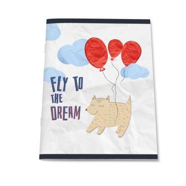 Тетрадь общая  А5,48л,кл,скреп,обл.мел.карт,УФ-лак №1 School Paper Cat Fly