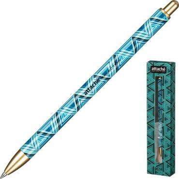 Ручка шариковая Attache Selection Delta. син.. автом.. подар.упак