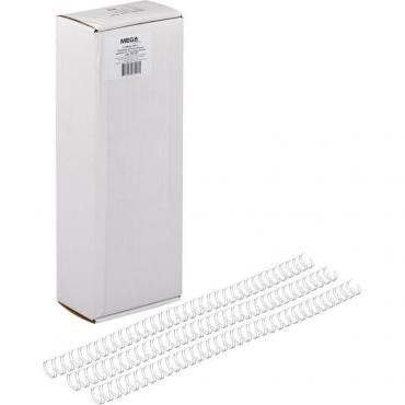 Пружины для переплета металлические Promega office 11,1мм белые 100шт/уп.
