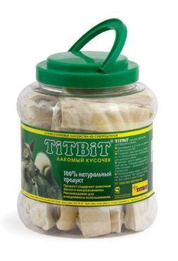 Лакомство для собак крекер говяжий, TitBit, 585 гр., пластиковая банка