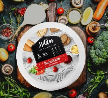 Сыр Российский 50% Mildar, Беларусь, 7.5 кг., парафин