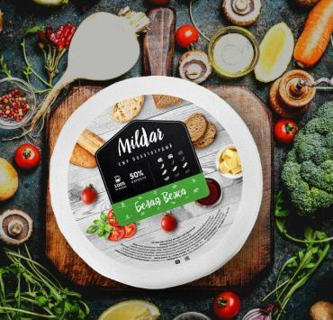 Сыр 50% Mildar Белая вежа, Беларусь, 7.5 кг., парафин
