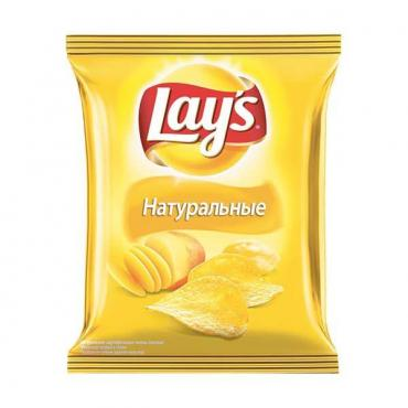 Чипсы натуральные с солью Lay's, 90 гр., флоу-пак