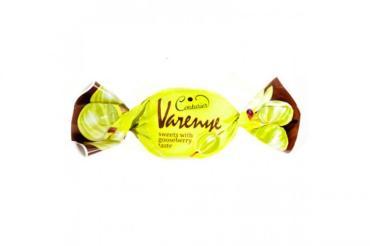 Конфеты с фруктовой начинкой крыжовник, Varenye 1,5 кг., пластиковый пакет