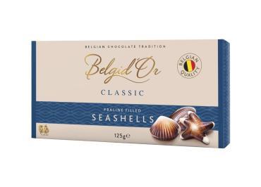 Конфеты из молочного, темного и белого шоколада c начинкой Belgid'Or SPHERES, 125 гр., картонная коробка