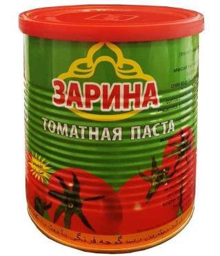 Томатная паста, с ключом, Зарина 800 гр., жестяная банка