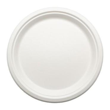 Тарелка эко круглая белая d=18 см., 50 шт.