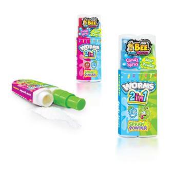 Жидкая конфета Johnny Bee Worms, 20 гр., пластиковая упаковка