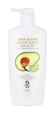 Гель для душа питательный и увлажняющий для сухой кожи Easy Spa Shea Butter Avocado, 500 мл., пластиковая бутылка