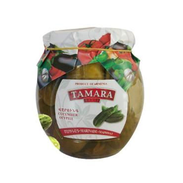 Огурцы Тамара маринованные , 520 гр, стекло