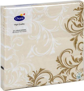 Салфетки бумажные Floral Bessa, 3сл 20шт 33*33см, Duni, пакет