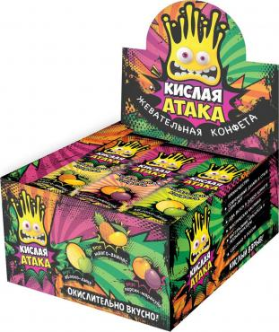 Карамель Кислая Атака, 40 гр., пластиковый пакет