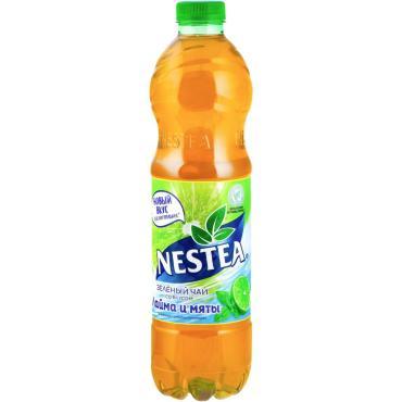 Чай холодный зеленый со вкусом лайм и мята Nestea, 1.5 мл., ПЭТ