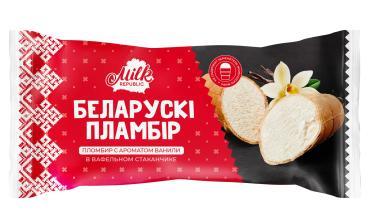 Мороженое стаканчик Белорусский пломбир ванильное, 80 гр., флоу-пак