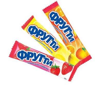 Жевательгная конфета Фрутти Холодок, 10 гр., сашет