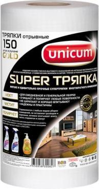 Тряпка Gold тиснение, 150 листов, Unicum Вафля