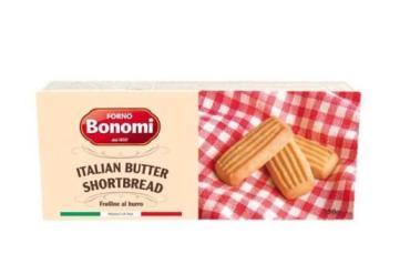 Печенье сдобное песочное со сливочным маслом прямоугольное Bonomi Forno,Bonomi, 200 гр., пакет
