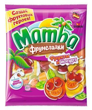 Мармелад фрукты йогурт, Mamba, 72 гр., флоу-пак