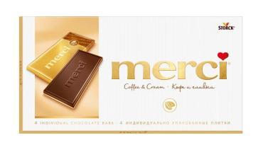 Шоколад Merci Кофе и сливки 100 гр.