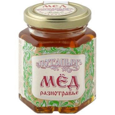 Мёд Потапыч натуральный разнотравье, 250 гр, стекло