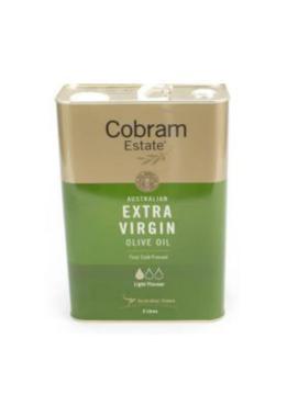 НОВИНКА Масло оливковое нерафинированное, первый холодный отжим,Cobram Estate Light, Австралия,3 л., жестяная канистра