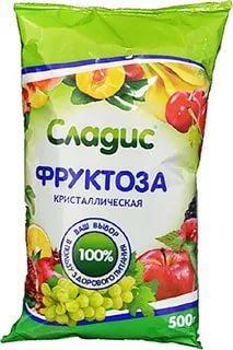 Фруктоза кристаллическая с инулином Арком Сладис 500 гр., пластиковый пакет