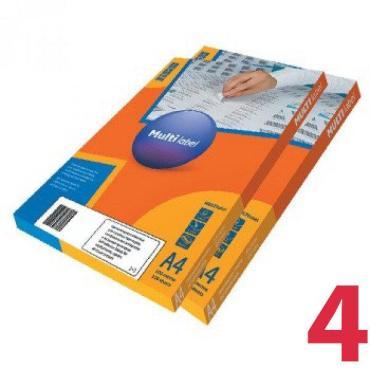 Этикетка самоклеящаяся 192*61 мм., белая, А4, 50 листов, MultiLabel, картонная коробка