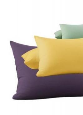 Наволочка 50х70 см., микросатин, 2 шт., Полосы, фиолетовый, Этель, пластиковый пакет