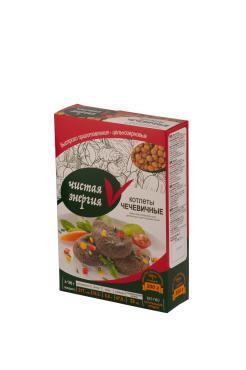 Котлеты вегетарианские чечевичные RICOS 300 гр., картонная коробка
