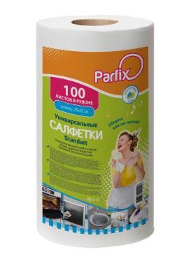 Салфетки в рулоне универсальные 100 шт/рул., Parfix Standart, бумажная упаковка