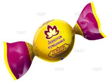 Конфеты со вкусом вишневого ликера Невский Кондитер Золотая кувшинка, 1 кг., пластиковый пакет