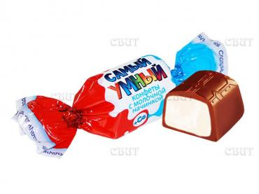 Конфеты Сладуница Самый умный, 1 кг., пластиковый пакет