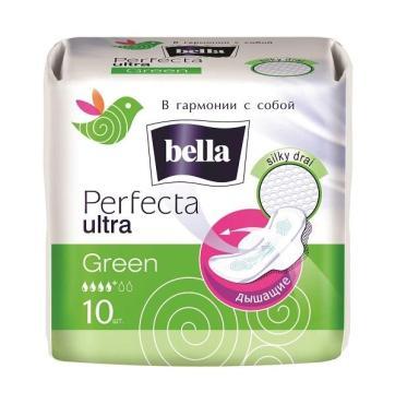 Прокладки супертонкие Perfecta Ultra Green 10 шт., Bella, пакет