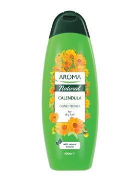Кондиционер для сухих волос Natural Calendula с календулой восстановление структуры, Болгария, Aroma, 500 мл., банка косметическая