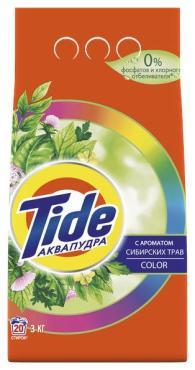 Стиральный порошок автомат с ароматом сибирских трав Tide Color, 3 кг., пластиковый пакет