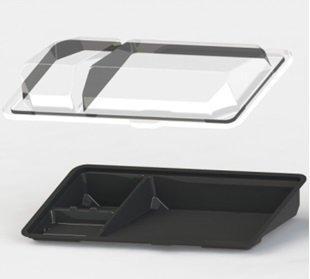 Крышка для контейнер для суши (витрина), внеш., 195х106х40 мм., внутр., 175х83х36 мм., прозрачн., ПС, 1000 шт., Кадо Прим