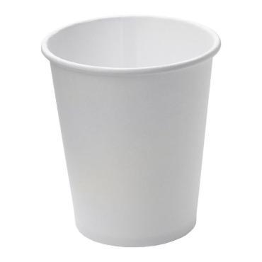 Стакан для холодного и горячего 250-280 мл., верх., d=80 мм., нижн., d=57 мм., h=92 мм., бел., картон, 1500 шт