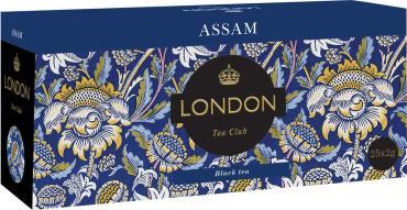 Чай черный в пакетиках, 25 шт., London Tea Club Аssam, 50 гр., картон