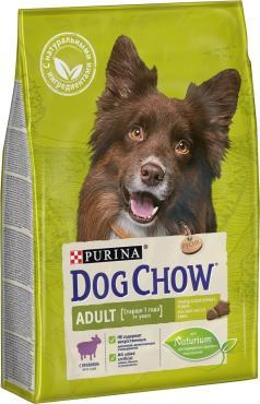 Сухой корм для собак старше 1 Года ягненок Dog Chow Adult, 2,5 кг., пластиковый пакет