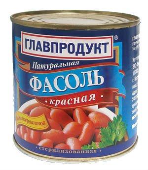 Фасоль красная Главпродукт, 400 гр., жестяная банка