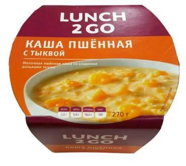 Каша молочная пшенная с тыквой, Славянская трапеза, 270 гр., пластиковая упаковка