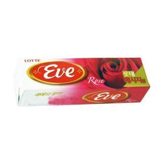 Жевательная резинка со вкусом розы, Lotte Eve, 26 гр., обертка фольга/бумага
