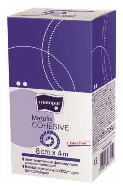 Бинт медицинский эластичный фиксирующий самоприлипающий 4 м.*8 см., Matopat Matofix Cohesive, картон