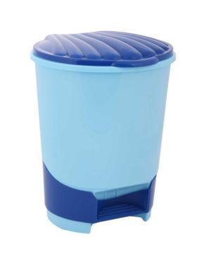 Ведро для мусора 10 л., с педалью голубой Альтернатива