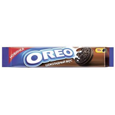 Печенье с какао и начинкой со вкусом шоколада, Oreo, 95 гр., флоу-пак