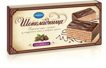 Торт вафельный Шоколадница классическая, Коломенское, 240 гр., картон