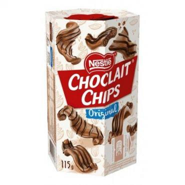 Шоколадные чипсы Nestle Choclait Chips White 115 гр., картон